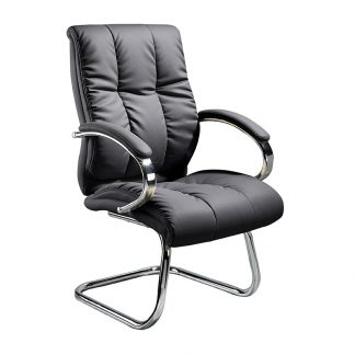 Thick foam leather Alpha office chair with padded armrests