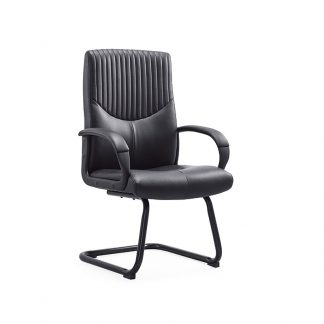 Leather chair with black powder coating frame from Alpha Industries