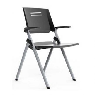 Foldable plastic shell chair with armrest by Alpha Industries