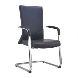 Black leather Alpha Industries office chair