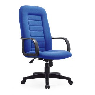Blue colour office chair with a foamed backrest and gas lift by Alpha