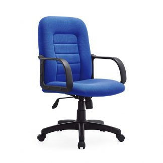 Buy a black and blue office chair with tapestry fabric for the front and rear of the back from Alpha Sri Lanka
