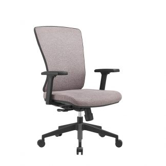 Alpha office chair with adjustable lumbar support