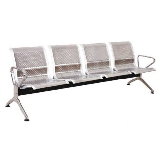 Alpha Silver four seating stainless steel chair
