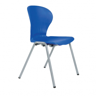 Alpha plastic canteen chair without arms