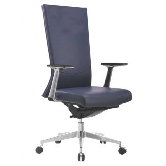 Height adjustable high-density foam office chair with Alpha Industries