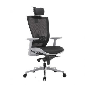 Adjustable office chair with headrest by Alpha Industries