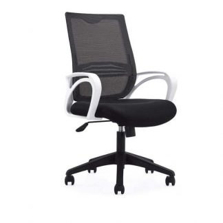 Office chair with backrest, gas lift and black elastic mesh by Alpha