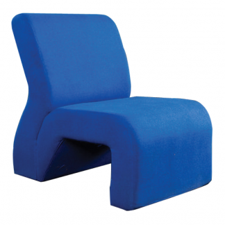 Alpha fabric lobby seat with foam cushion and without arms