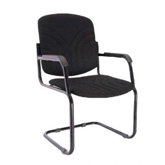 Visitor Chair by Alpha Industries with cantilever base, armrest, fabric seating and backrest