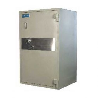 Alpha steel security data safe with handle and lock combination