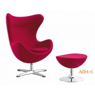 Alpha fabric accent chair with aluminium base and foam seating