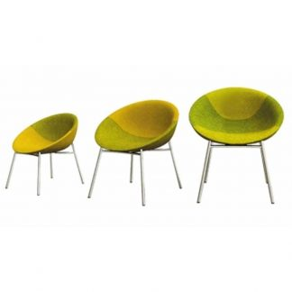 Circular soft seating chairs from Alpha