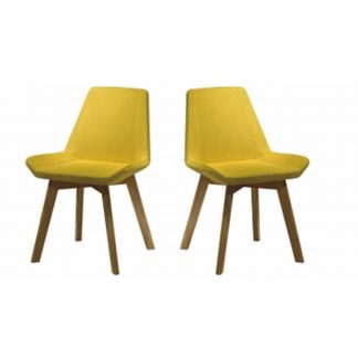 Alpha yellow chair with soft seating