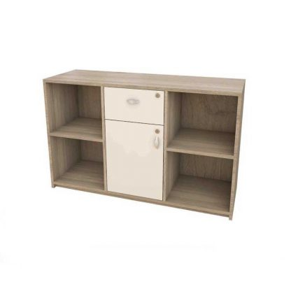 Large wooden office cupboard for storage by Alpha