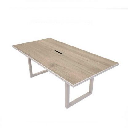 Thick ergonomic wooden office desk by Alpha Industries
