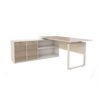 Ergonomic & Wooden office desk by Alpha for Managers