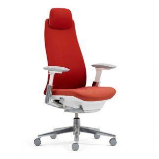 Haworth Fern executive chair with an adjustable headrest by Alpha Industries