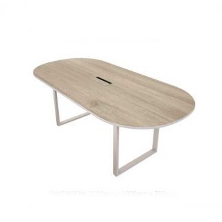 Oval shaped wooden meeting table by Alpha Industries
