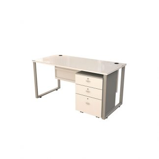 Alpha Sahara manager wooden meeting table with three drawers