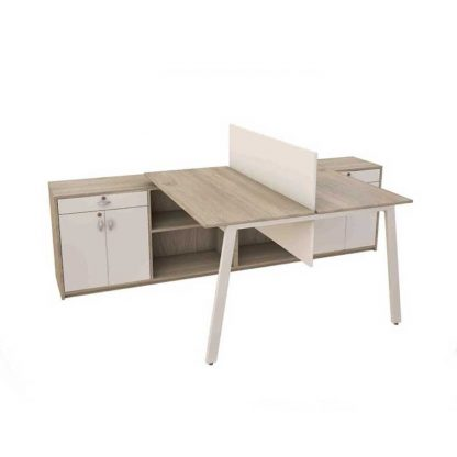 Space-saving & powder-coated steel base workstation by Alpha