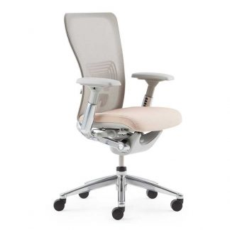 A zody chair featuring a patented Pelvic and Asymmetrical Lumbar (PAL) back system by Alpha