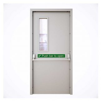 Metal fire-rated exit door by Alpha Industries Sri Lanka