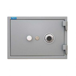 Alpha home safe with 1 key lock and combination