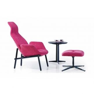 Alpha red soft seating chair with long backrest