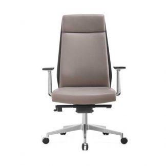 Aluminium base office armchair-Alpha Industries