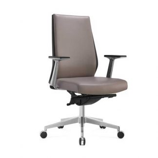 Luxury leather grey office chair in by Alpha Industries
