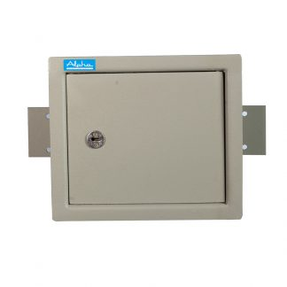 Standard steel security wall safe with lock and key combination by Alpha Industries
