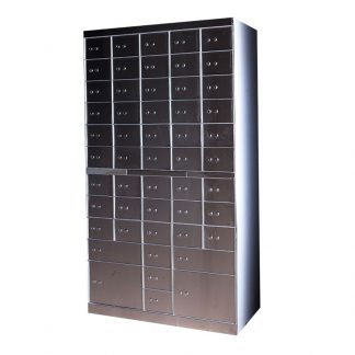 Silver fire-resistant cupboard with a tolerance for weight by Alpha