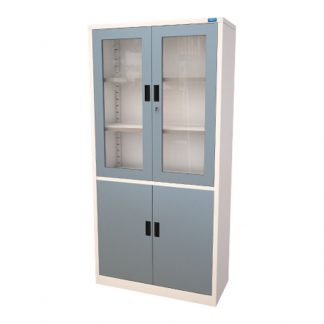 Sahara Display Cupboard with secure locks, adjustable shelves and cabinet