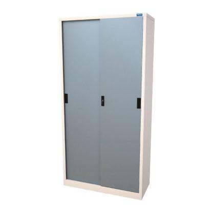 Sahara steel sliding door with adjustable shelved by Alpha