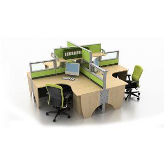 Open plan ComCon office table by Alpha Sri Lanka