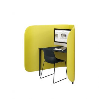 Individual cellular booth office workstation from Alpha