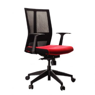 Alpha pulse low back recliner chair with armrest, foam seating, mesh backrest and adjustable height