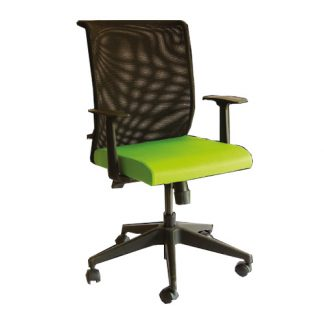 Alpha Vantillo Executive Chair with thick cushioning, mesh backrest, waterfall seat edge, adjustable height and wheels
